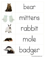 Word Cards The Mitten