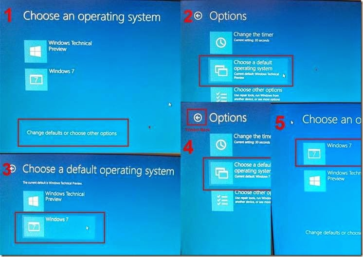 memilih OS windows yang akan di jalankan