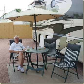 Our patio Sunrise RV