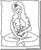 embarazo colorear
