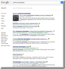 "Google results ""american apologies"""