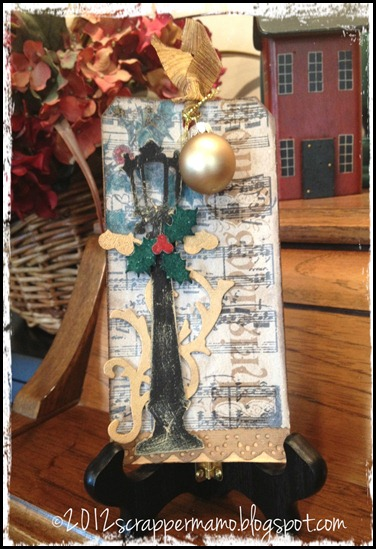 christmas carols tag with flourish w border
