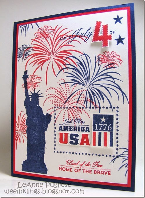LeAnne Pugliese WeeInklings Paper Players 199 Waltzingmouse July 4th Stampin-1