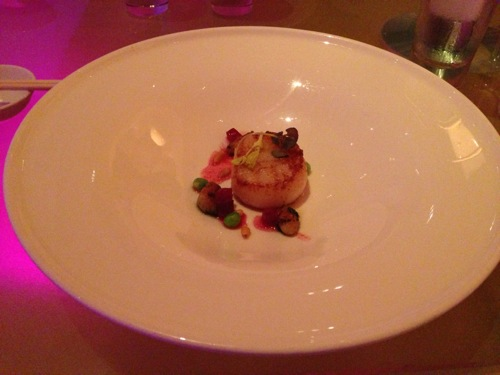 5 Seared Scallop in a Red Miso glaze