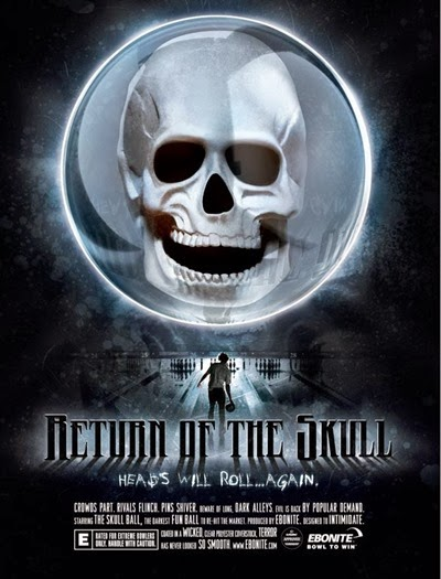 Ebonite Skull Ball advertisement