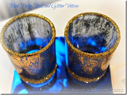 Mod Podge, Foil and Glitter Votives