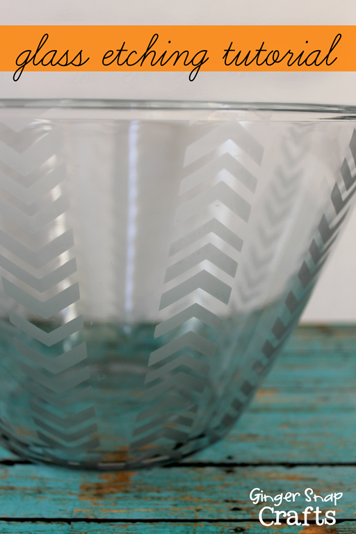 glass etching tutorial #spon #tutorial #gingersnapcrafts