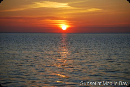 Sunset in Fairhope over looking Mobile Bay