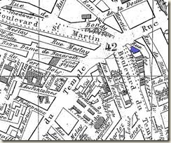 Les boulevards et leurs thatres (en bleu le Thatre Historique)