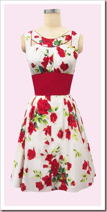 Red Roses Patio dress