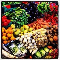 fresh veg at la Boqueria
