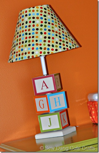 ABC Block Lamp