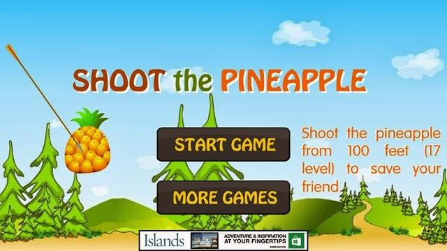 لعبة ضرب الأناناس Shoot The Pineapple لويندوز 8