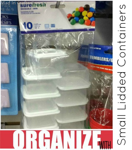 Dollar Store Mini Container & Organize Your Whole House with One Trip to the Dollar Store - Mad in ...