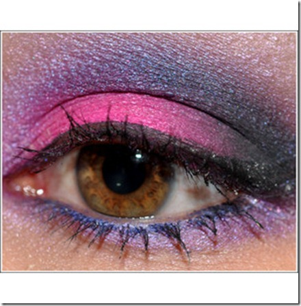 Dramatic Smoky Eyes in Hot_ Fuchsia Pink