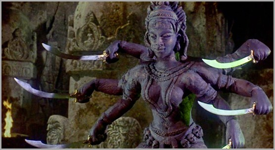 Kali is armed and dangerous in THE GOLDEN VOYAGE OF SINBAD (1973)