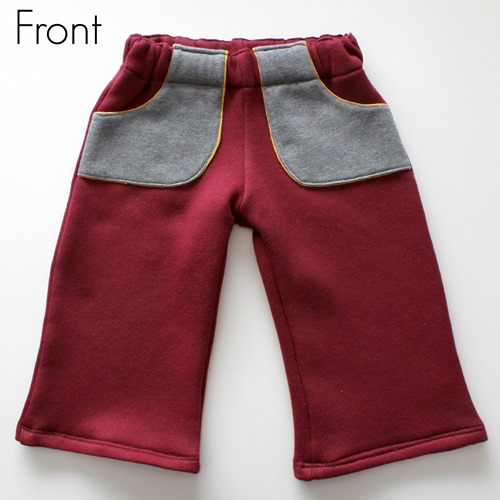 maroon pants front