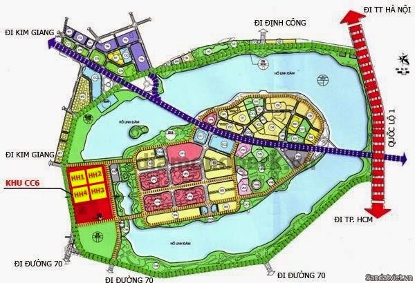 Vị trí ô đất CC6 trên bản đồ trực tuyến
