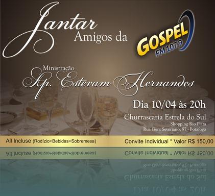 Convite Jantar Amigos da Gospel