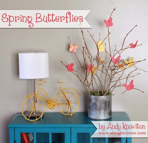 Spring Butterflies tutorial - cute fabric butterflies!