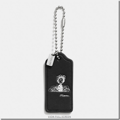 COACH X Peanuts leather hangtag - USD 20 - black 05