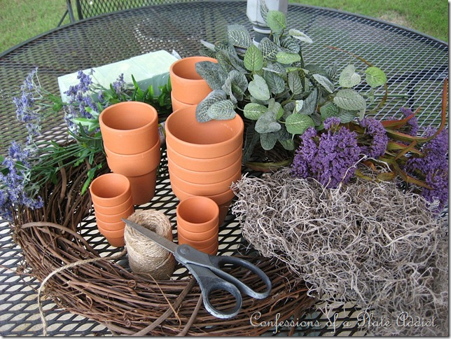 flower pot wreath parts