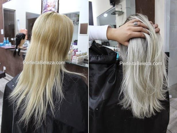 cabelo com raiz esfumada, cabelo platinado