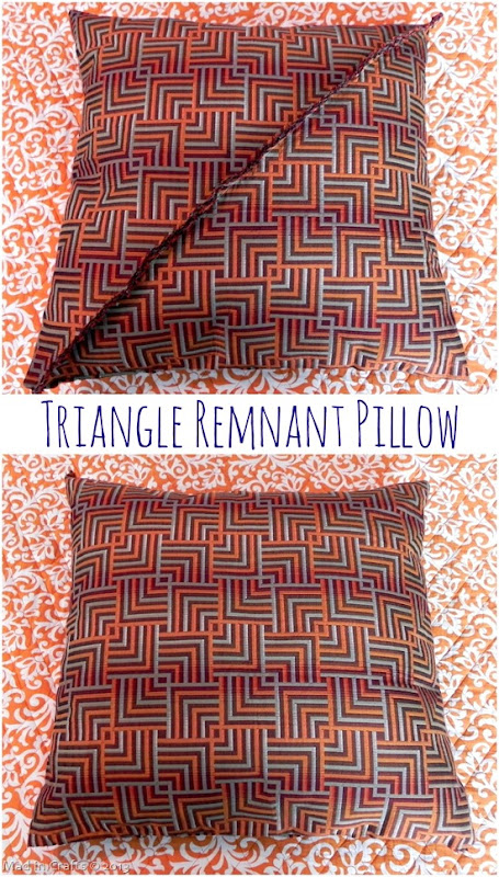 Triangle Remnant Throw Pillow