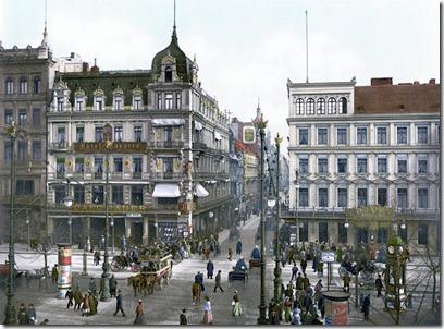 Unter den Linden, Cafe Bauer um 1900