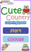 Screenshot of Cute Country Coloring Book