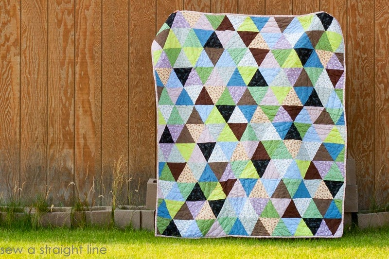 triangle quilt it's the thought that counts sew a straight line-2-2