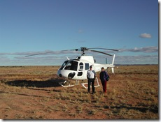 Helicopter flight from Marree South Australia over Lake Eyre