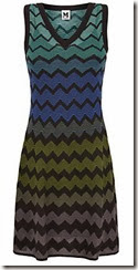 M Missoni Chevron Flare Knit dress