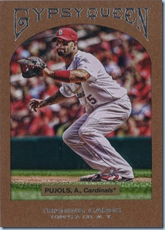 2011 Gypsy Queen Hobby Pujols Framed