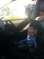 Driving through the car wash