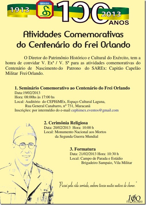Frei Orlando Centenário