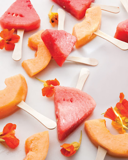 Margarita soaked melon wedge popsicles make you feel grown-up and kid-like at the same time. (marthastewart.com)