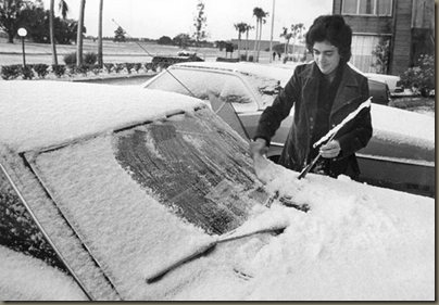 Weather blog  Snow in Tampa  Jan. 19  1977