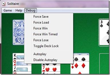 Solitario menu segreto con funzioni e trucchi Windows Games Tweaker