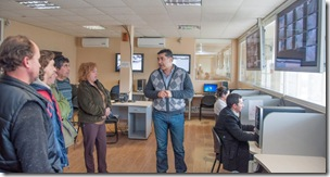 Cámara de comercio de Mar del Tuyú visitó la sala de situacion