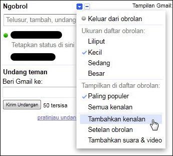 Menambah teman chatting di Gmail