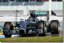 Rosberg nelle prove libere del gran premio di Germania 2014