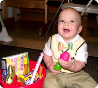 Elijah&#39;s Easter basket