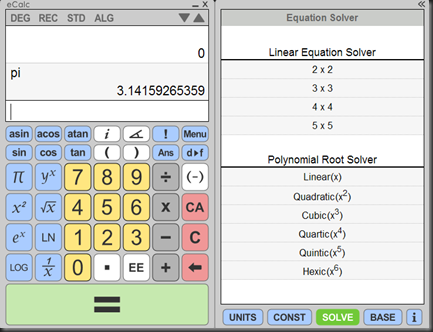 equation solving calculator
