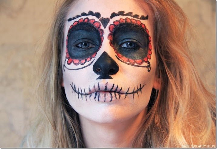 Halloween Makeup Tutorial: Mexican Sugar Skull! | Katie Snooks