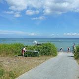 Bøgebjerg strand, lækkert sted og flot turkisblåt vand.