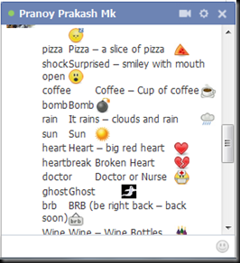 Awesome Facebook Chat Emoticons - 2013 | English Software Collection Facebook Emoticons Code Clap