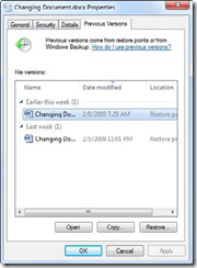 Get Back To Previous Versions Of Files In Windows 7 1