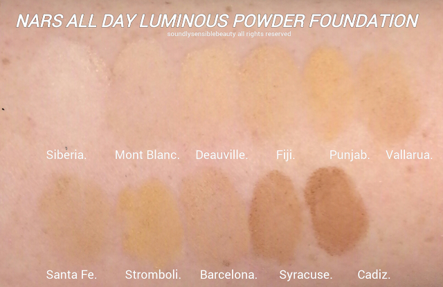 Nars Powder Foundation; All Day Luminous Wet/Dry Foundation SPF 24