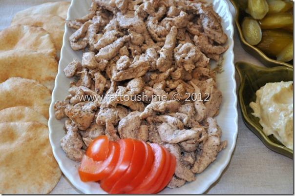 وصفة شاورما الدجاج من www.fattoush.me